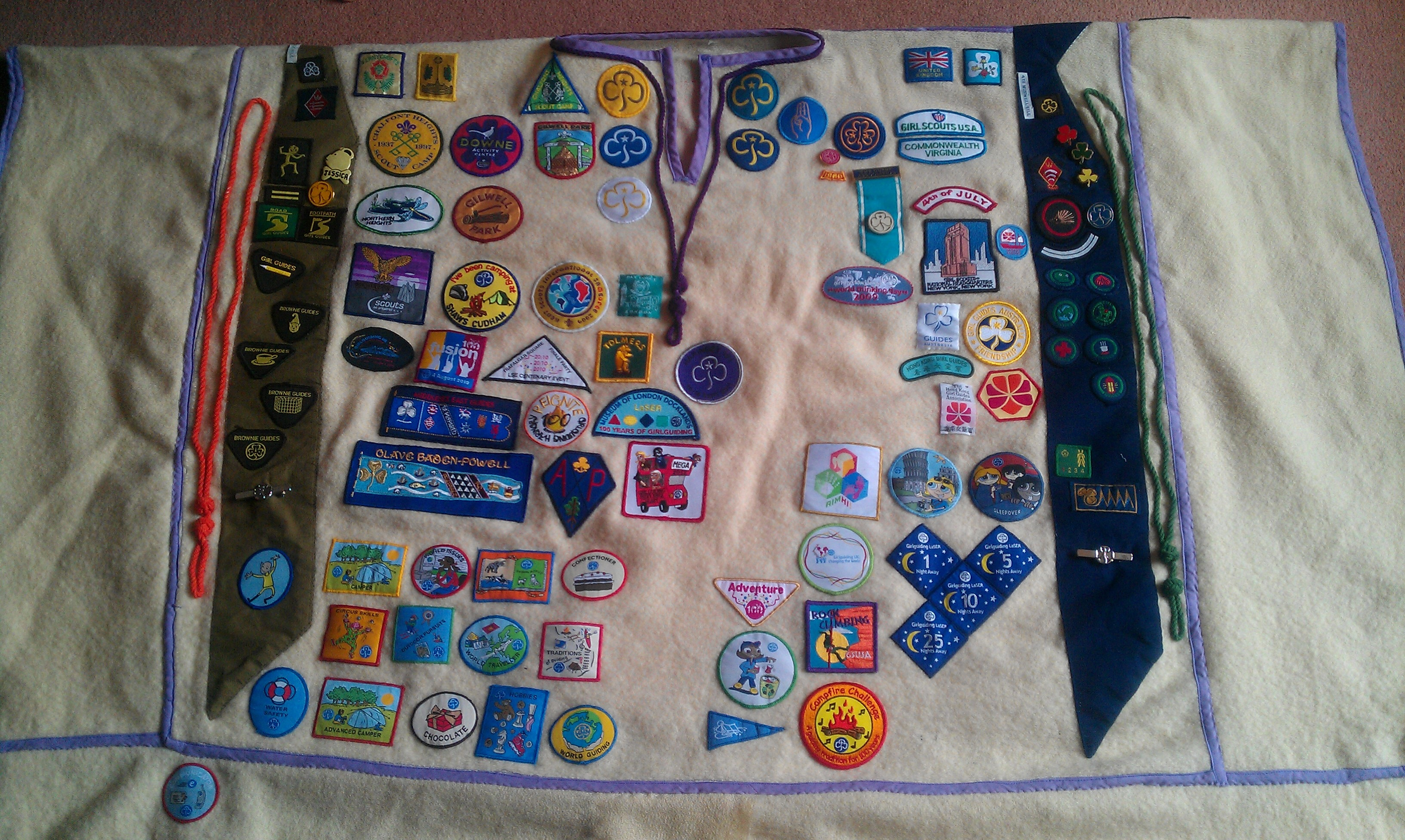 Jessica's Camp Blanket (front)